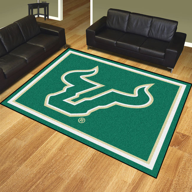 South Florida Bulls Ultra Plush 8x10 Area Rug