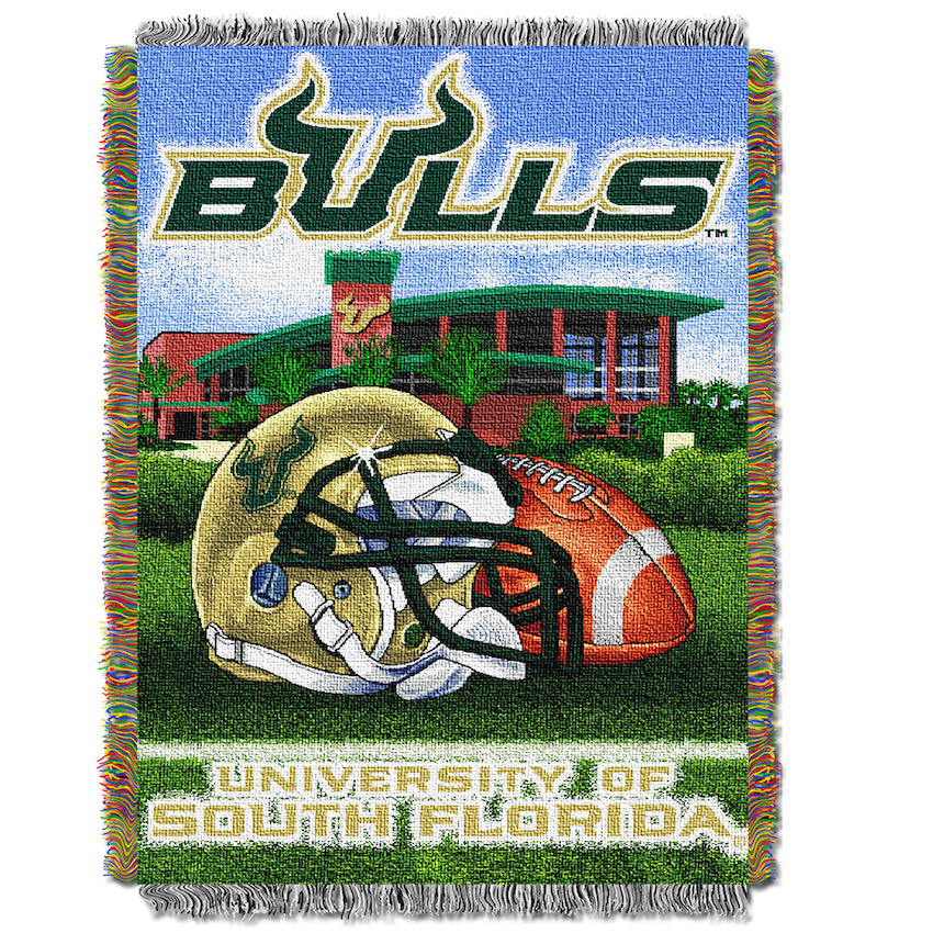 South Florida Bulls Home Field Advantage Series Tapestry Blanket 48 x 60