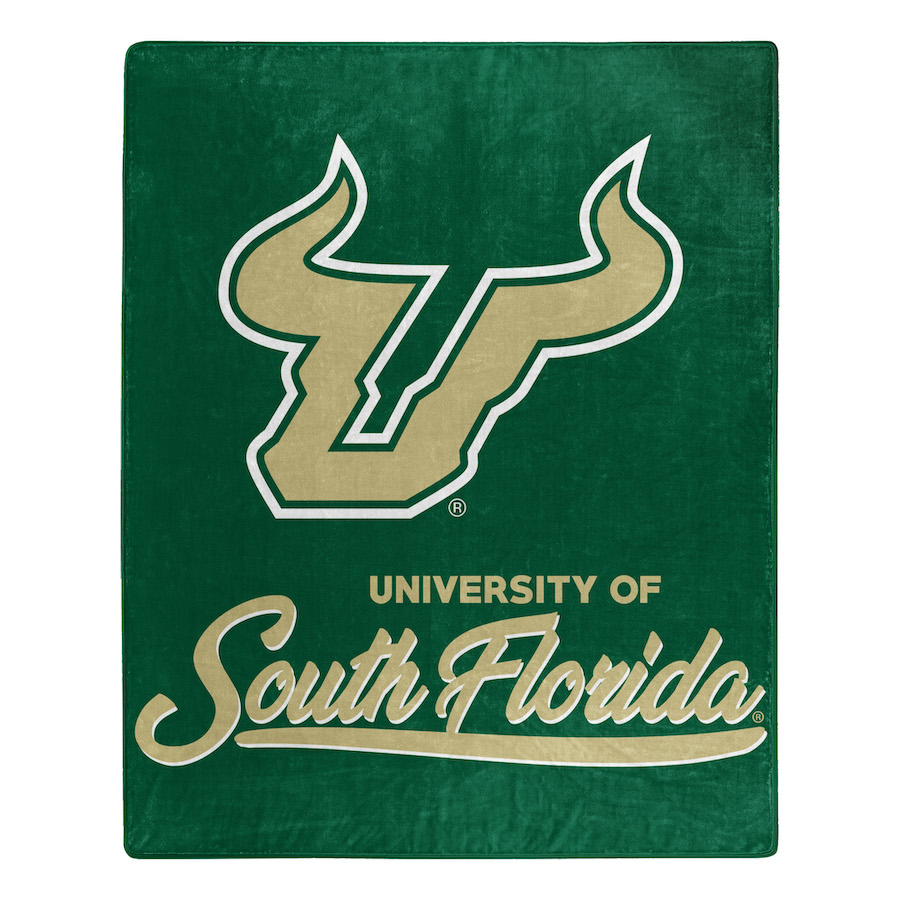 South Florida Bulls Plush Fleece Raschel Blanket 50 x 60