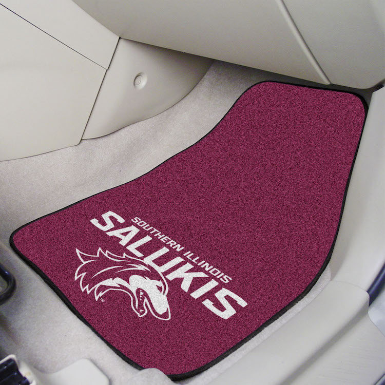 Southern Illinois Salukis Car Floor Mats 18 x 27 Carpeted-Pair