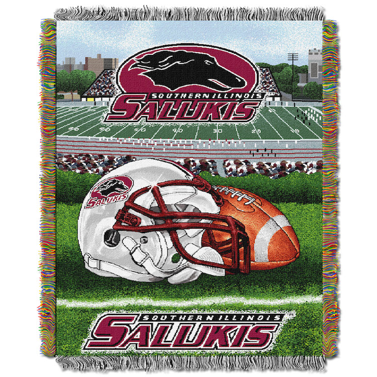Southern Illinois Salukis Home Field Advantage Series Tapestry Blanket 48 x 60
