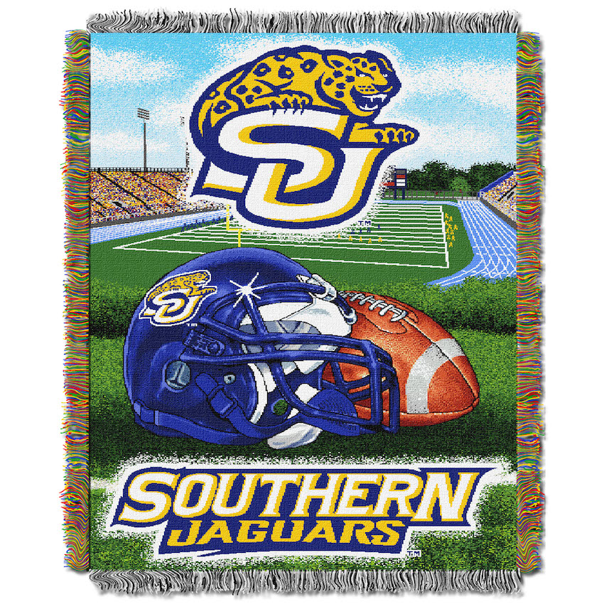 Southern Jaguars Home Field Advantage Series Tapestry Blanket 48 x 60