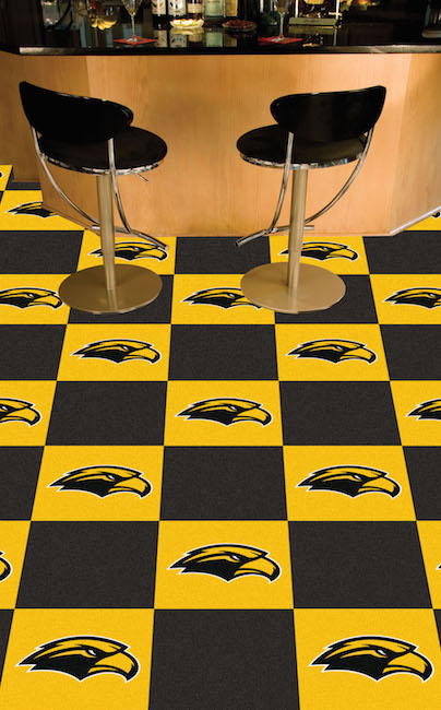Southern Mississippi Golden Eagles Carpet Tiles 18x18 in.