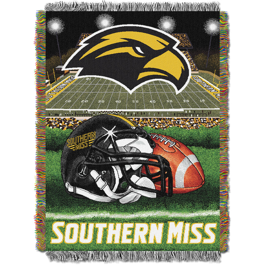 Southern Mississippi Golden Eagles Home Field Advantage Series Tapestry Blanket 48 x 60