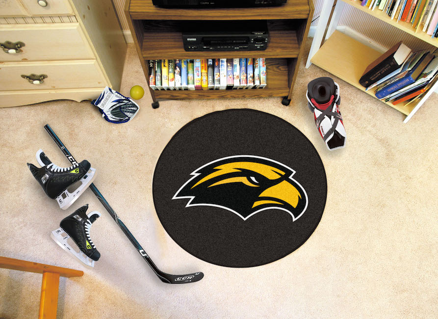 Southern Mississippi Golden Eagles Round Hockey Puck Mat