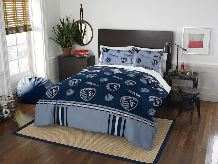 Sporting Kansas City QUEEN/FULL size Comforter and 2 Shams