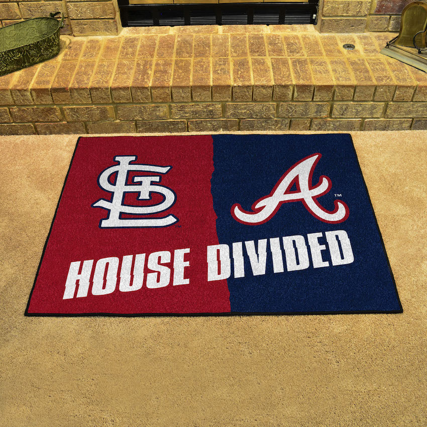 MLB House Divided Rivalry Rug St. Louis Cardinals - Atlanta Braves