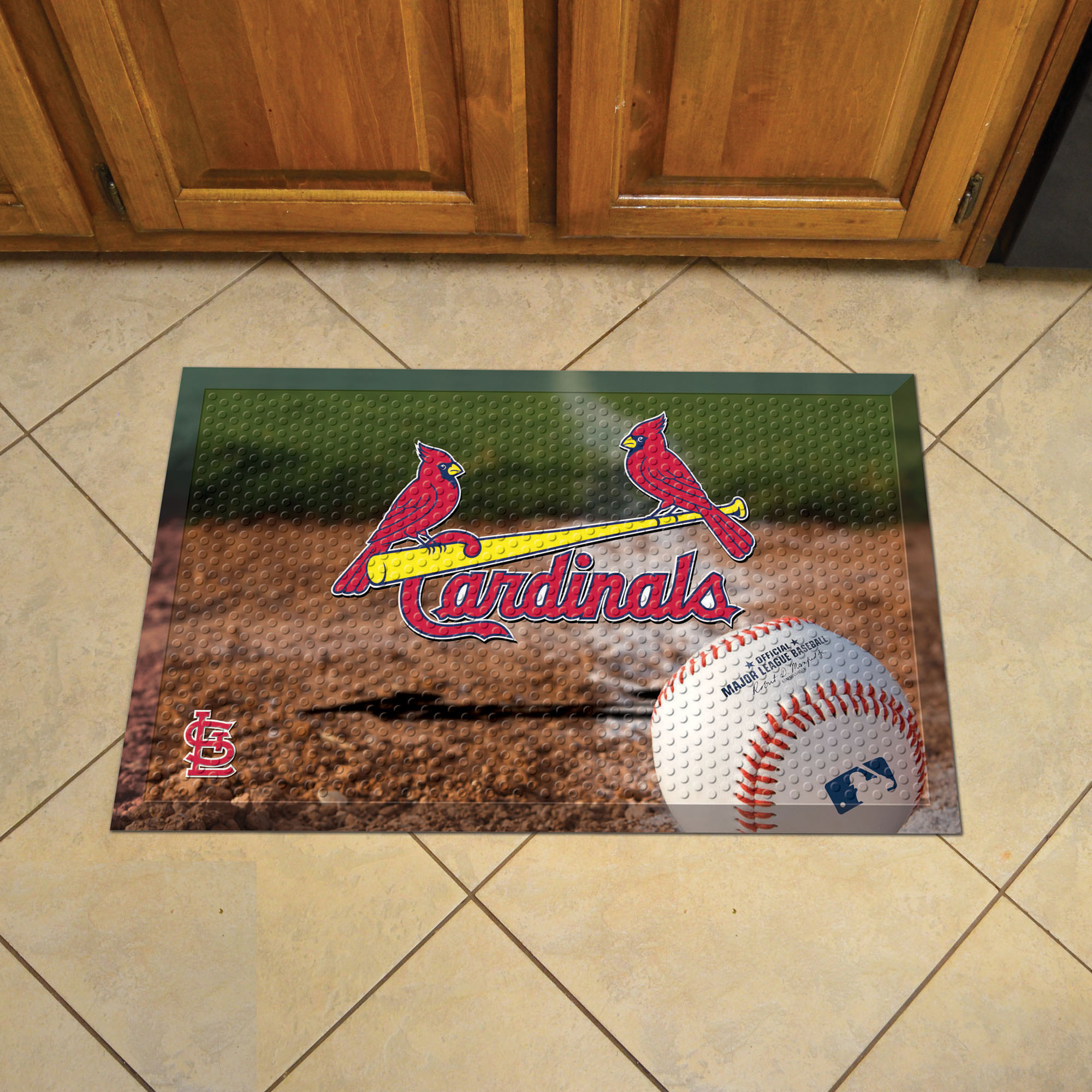 St. Louis Cardinals Ball Style SCRAPER Door Mat