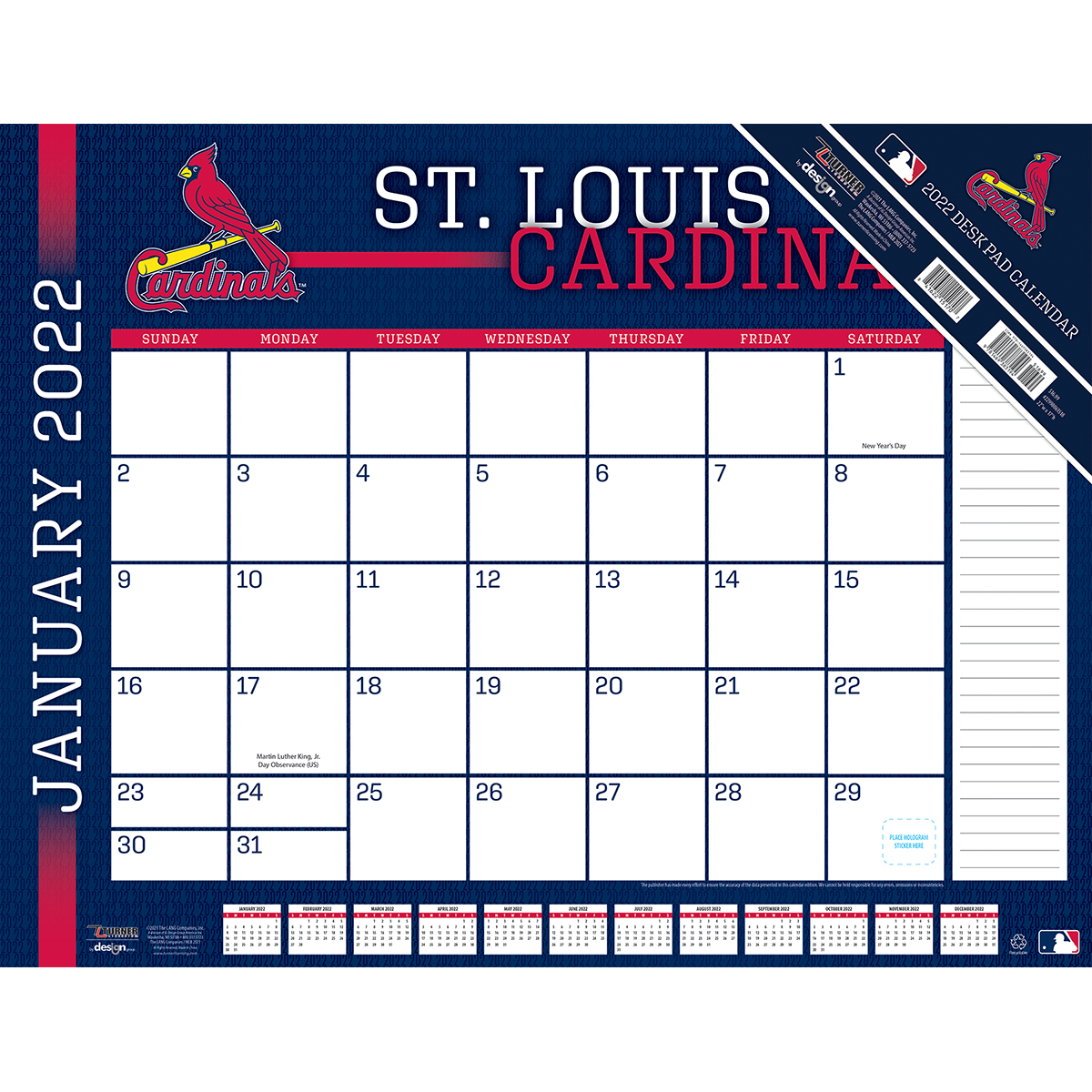 St. Louis Cardinals 2020 MLB 22 x 17 Desk Calendar