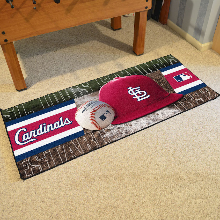 St. Louis Cardinals 30 x 72 Baseball Carpet Runner