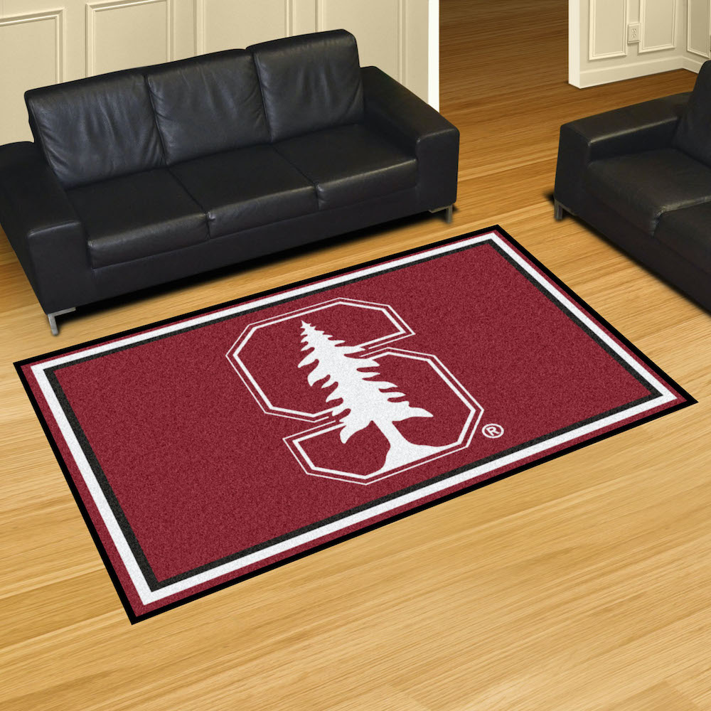 Stanford Cardinal 5x8 Area Rug