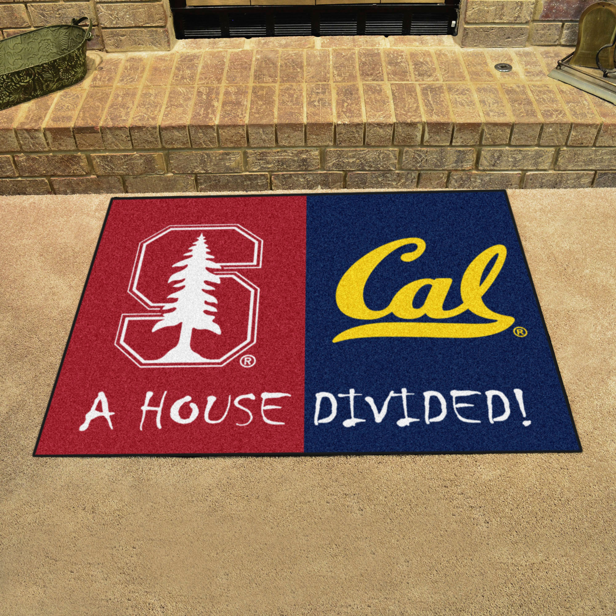 NCAA House Divided Rivalry Rug Stanford Cardinal - California Golden Bears