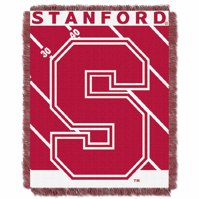 Stanford Cardinal Woven Baby Blanket 36 x 48