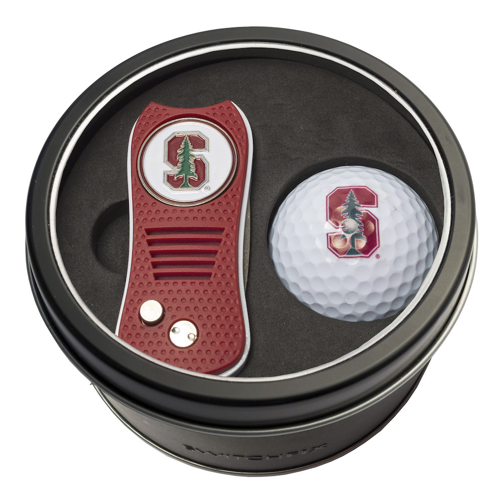 Stanford Cardinal Switchblade Divot Tool and Golf Ball Gift Pack