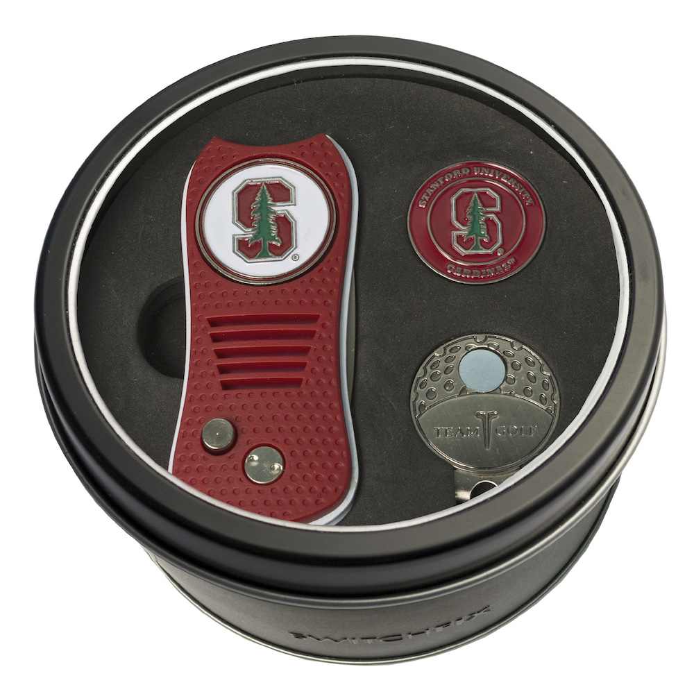Stanford Cardinal Switchblade Divot Tool Cap Clip and Ball Marker Gift Pack