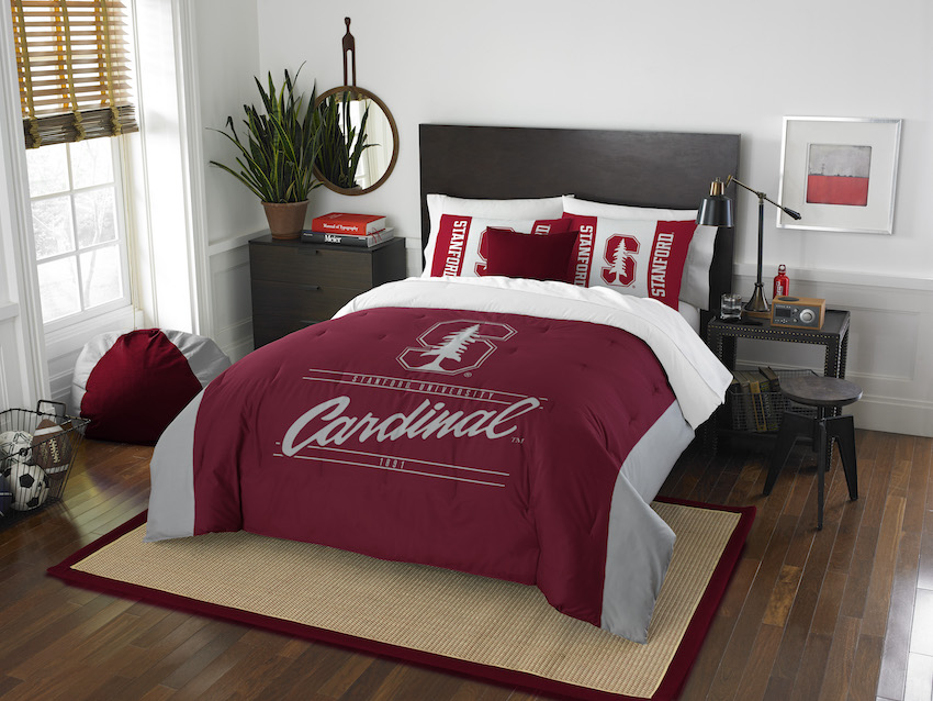 Stanford Cardinal QUEEN/FULL size Comforter and 2 Shams