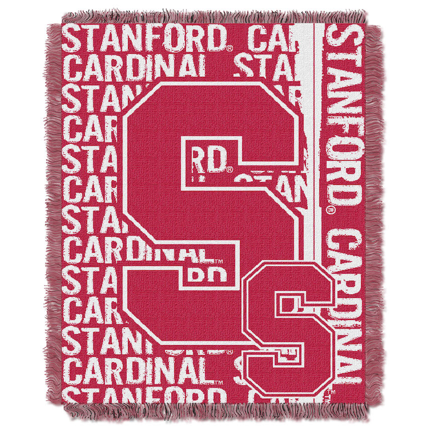 Stanford Cardinal Double Play Tapestry Blanket 48 x 60