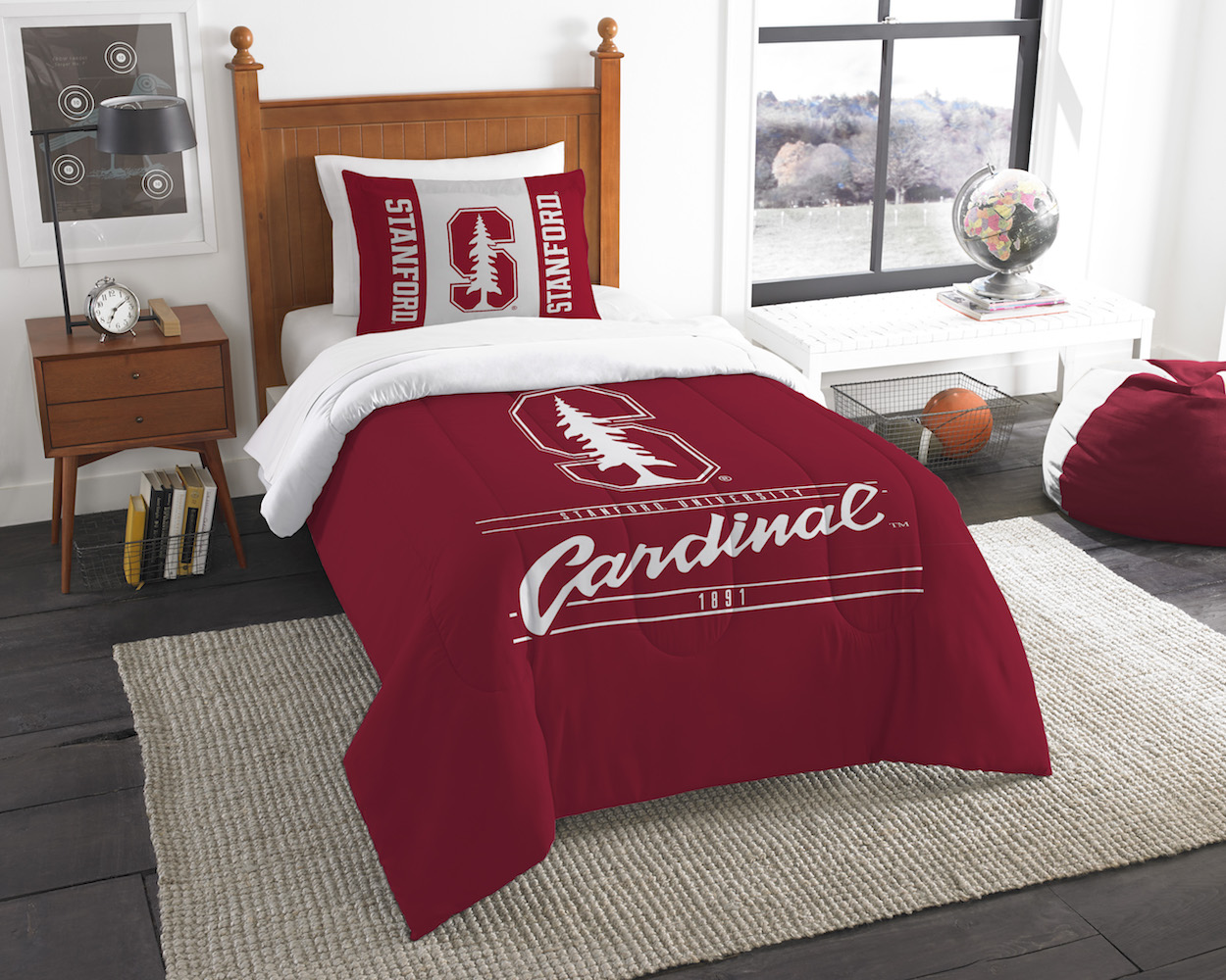 Stanford Cardinal Twin Comforter Set with Sham