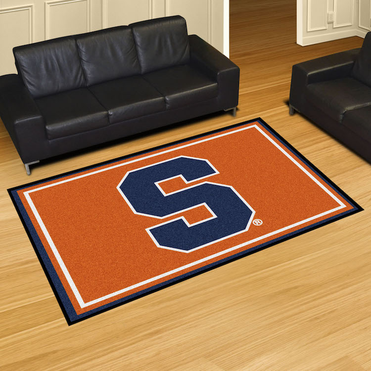 Syracuse Orange 5x8 Area Rug