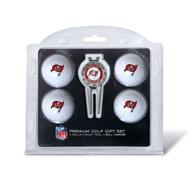 Tampa Bay Buccaneers 4 Golf Ball and Divot Tool Set