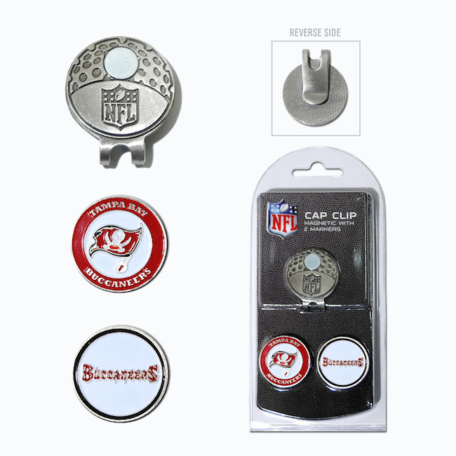 Tampa Bay Buccaneers Hat Clip With 2 Ball Markers