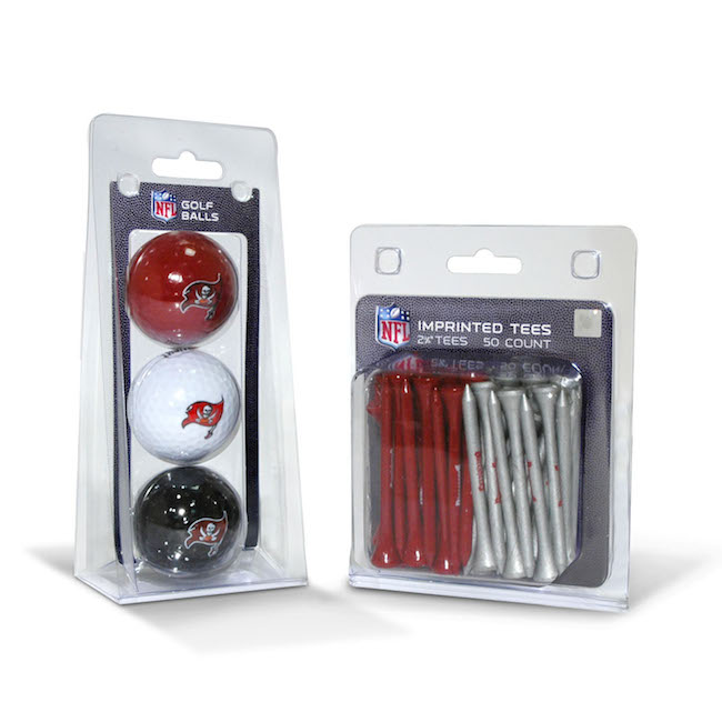 Tampa Bay Buccaneers 3 Ball Pack and 50 Tee Pack
