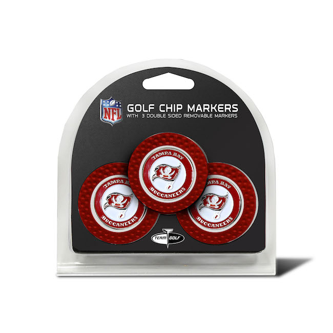 Tampa Bay Buccaneers 3 Pack Golf Chips