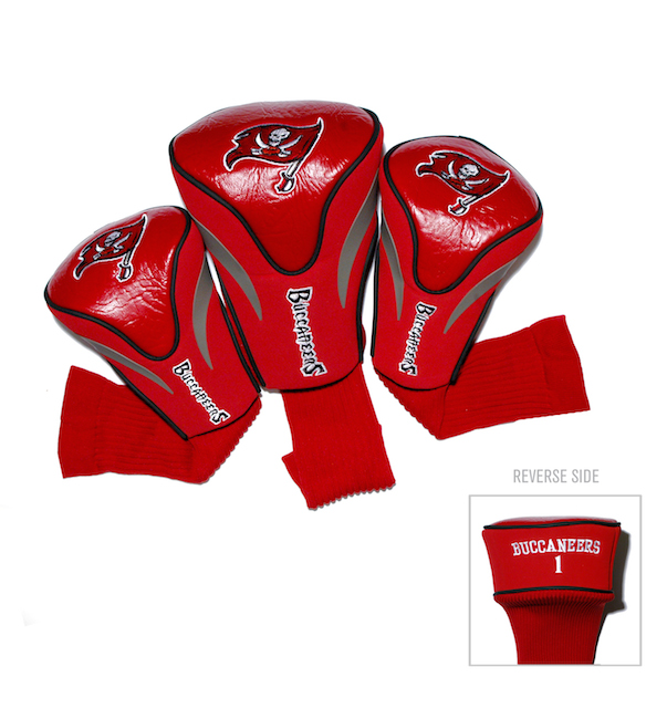 Tampa Bay Buccaneers 3 Pack Contour Headcovers