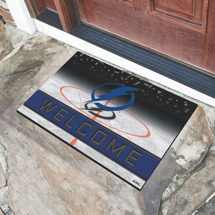 Tampa Bay Lightning Recycled Crumb Rubber Door Mat