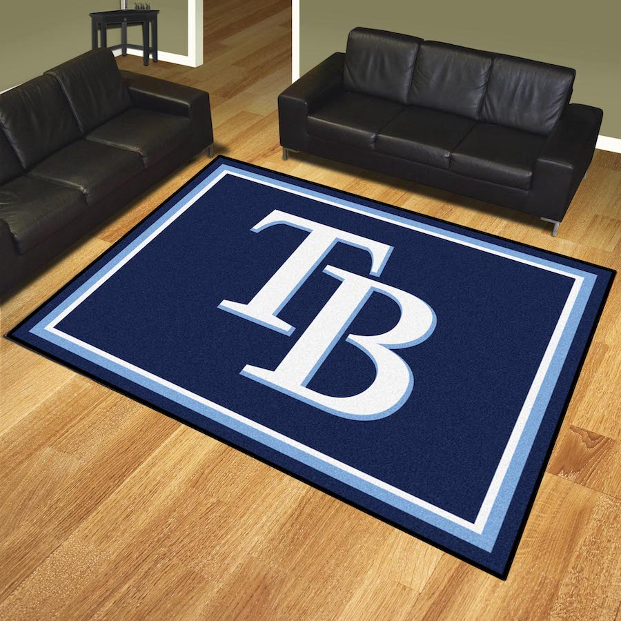 Tampa Bay Rays Ultra Plush 8x10 Area Rug