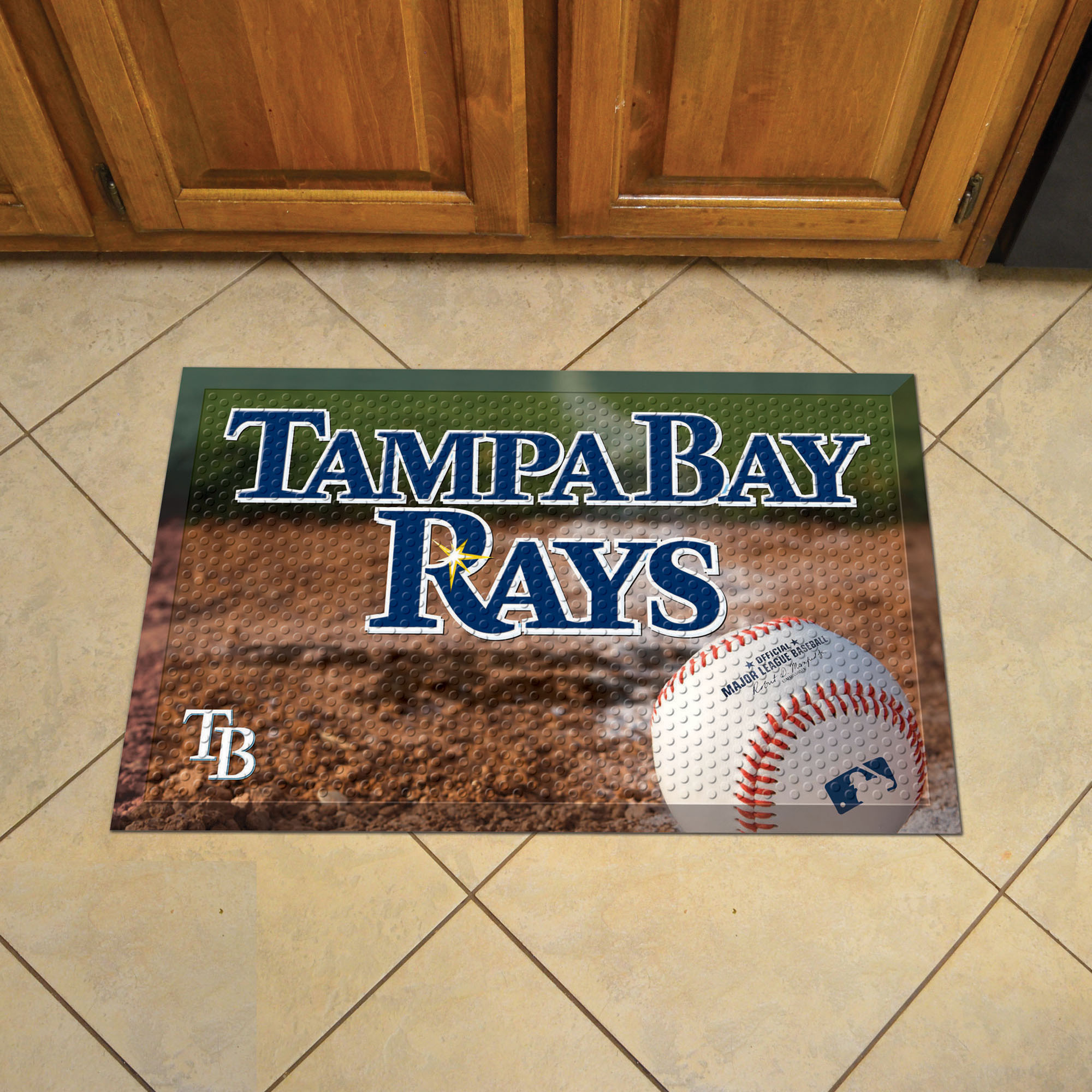 Tampa Bay Rays Ball Style SCRAPER Door Mat