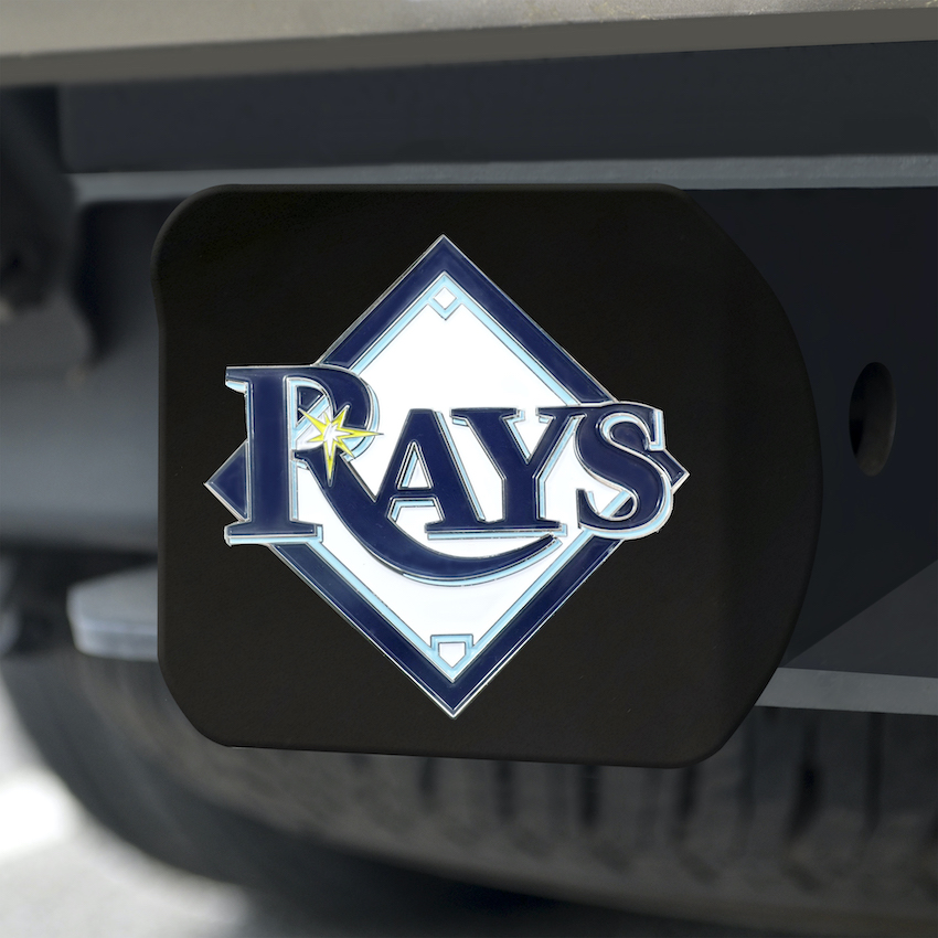 Tampa Bay Rays Black and Color Trailer Hitch Cover