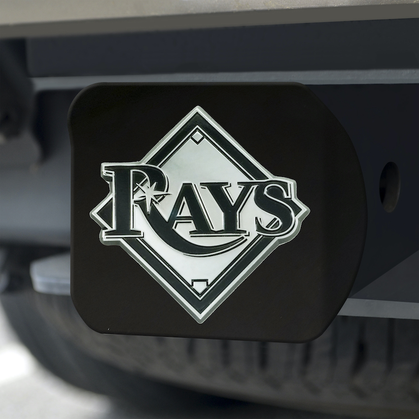 Tampa Bay Rays BLACK Trailer Hitch Cover