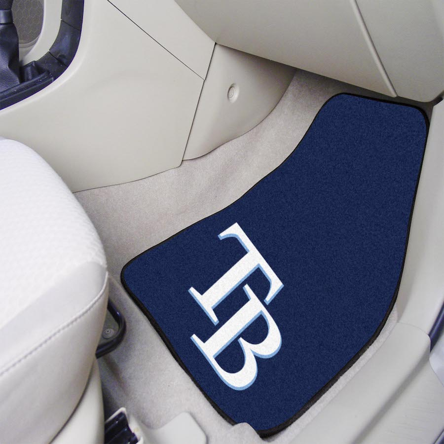 Tampa Bay Rays Car Floor Mats 18 x 27 Carpeted-Pair