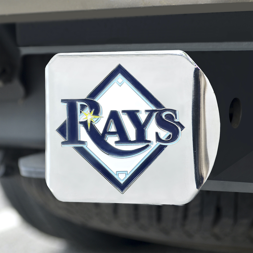Tampa Bay Rays Color Chrome Trailer Hitch Cover