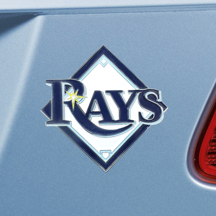 Tampa Bay Rays Color Metal Auto Emblem