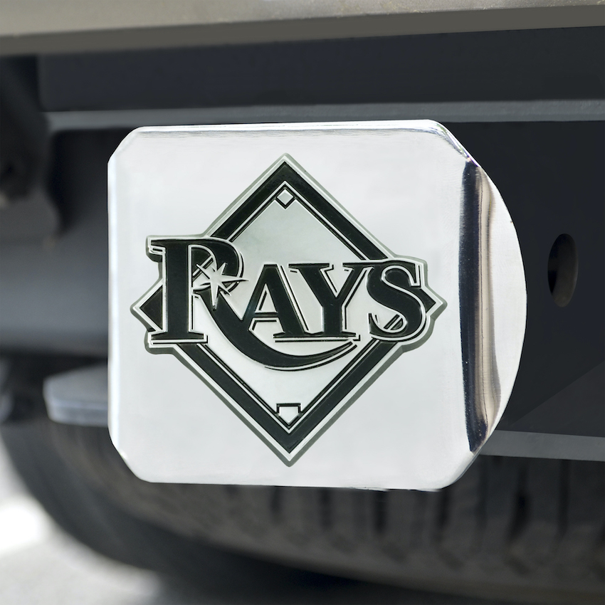 Tampa Bay Rays Chrome Trailer Hitch Cover