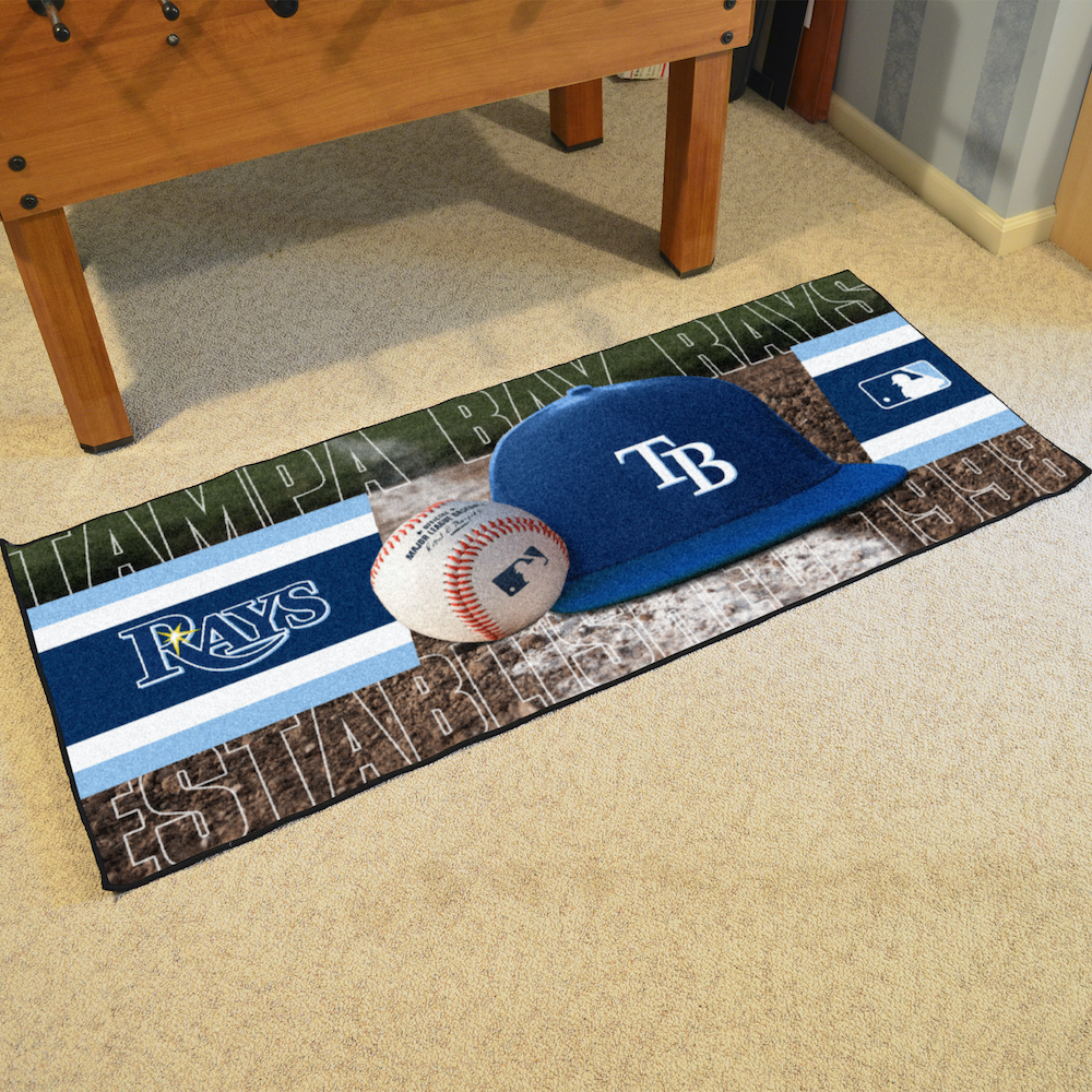 Tampa Bay Rays 30 x 72 Baseball Carpet Runner