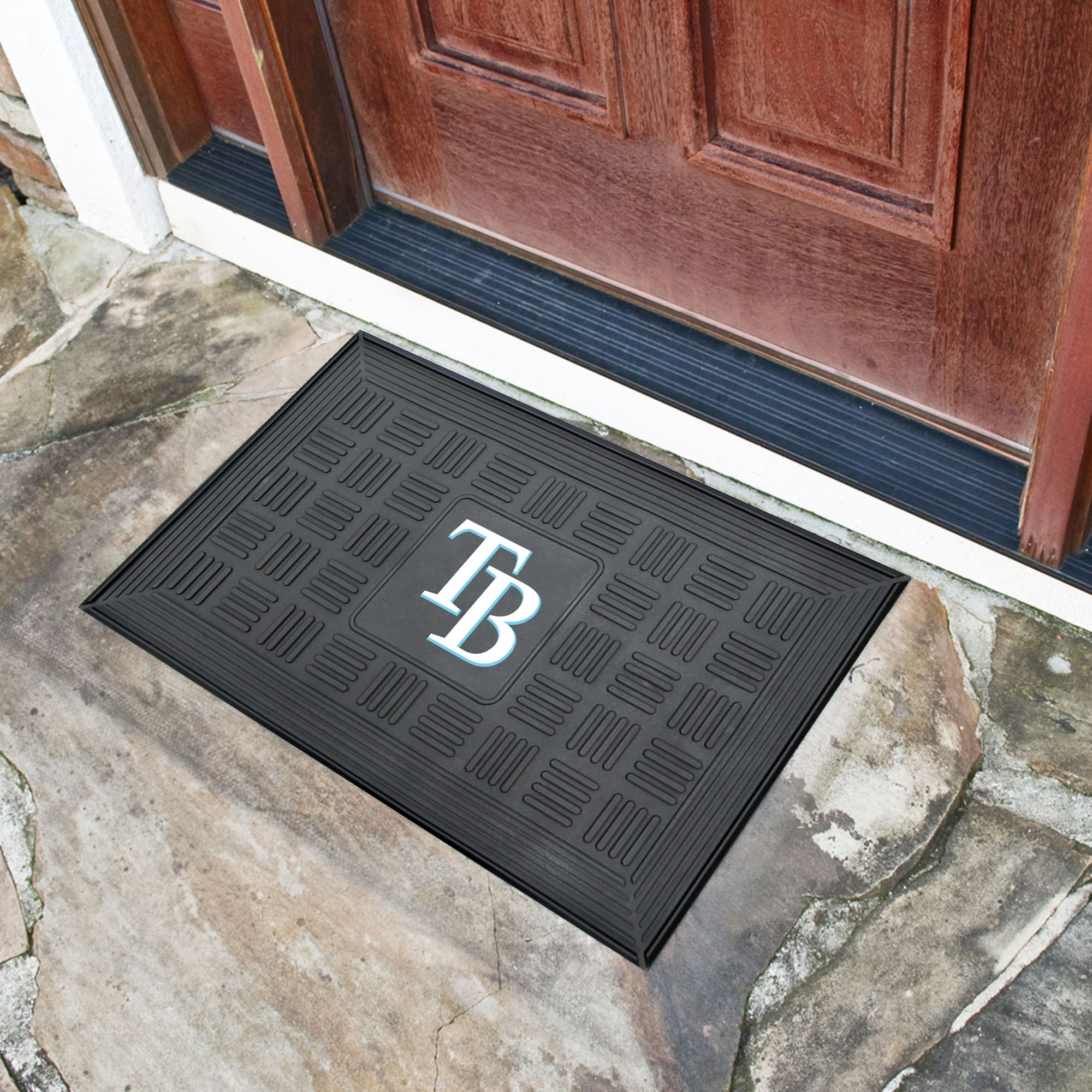 Tampa Bay Rays MEDALLION Vinyl Door Mat