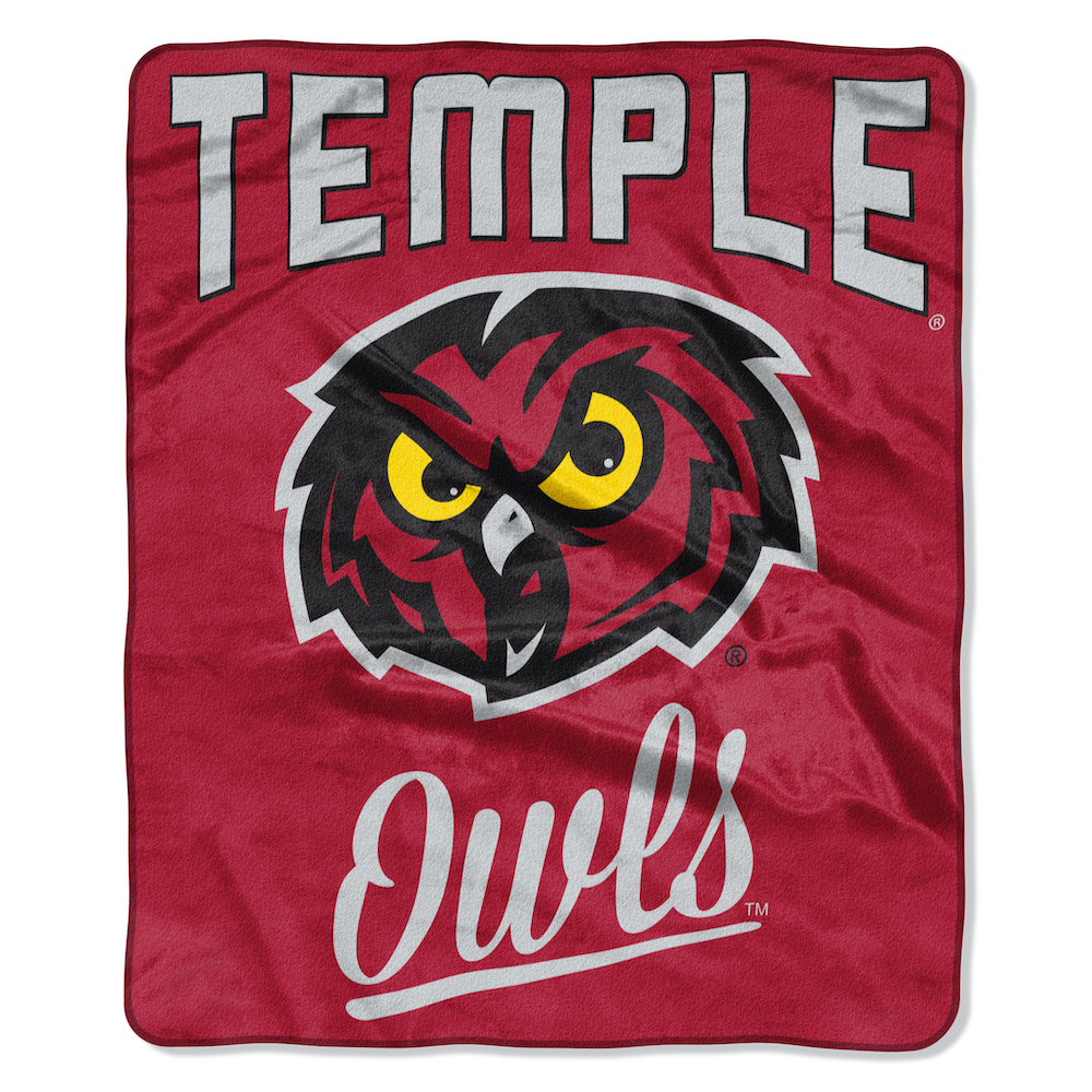 Temple Owls Plush Fleece Raschel Blanket 50 x 60
