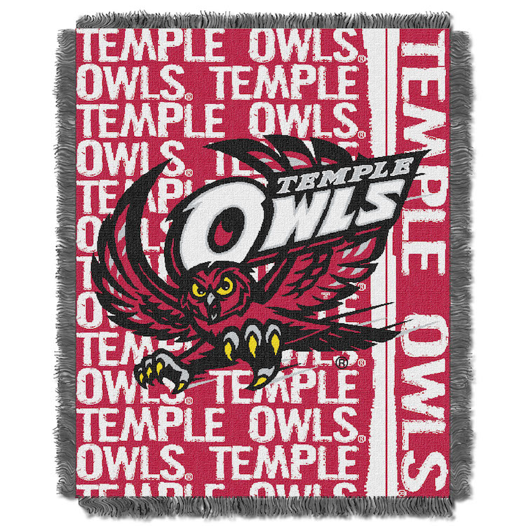 Temple Owls Double Play Tapestry Blanket 48 x 60