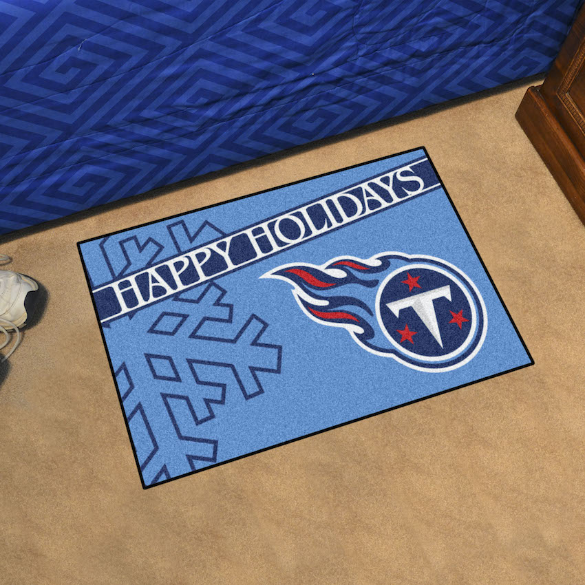 Tennessee Titans Holiday Floor Mat
