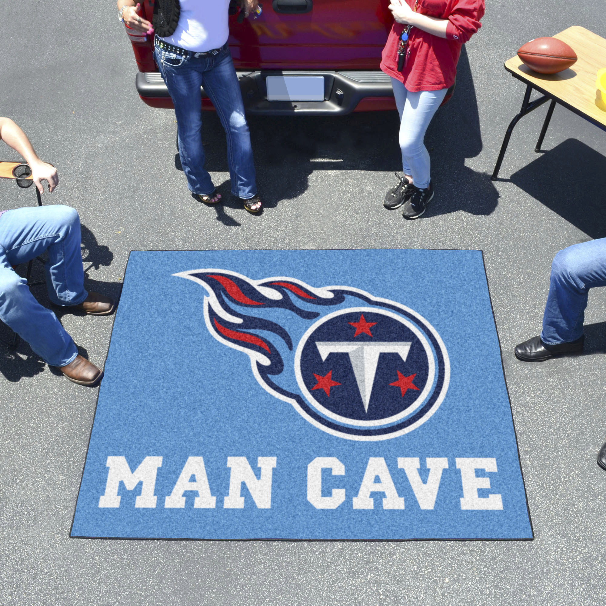 Tennessee Titans MAN CAVE TAILGATER 60 x 72 Rug