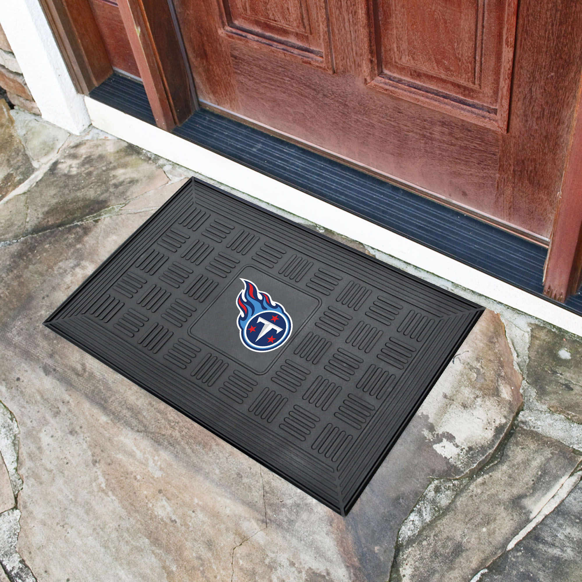 Tennessee Titans MEDALLION Vinyl Door Mat