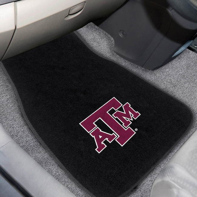 Texas A&M Aggies Car Floor Mats 17 x 26 Embroidered Pair