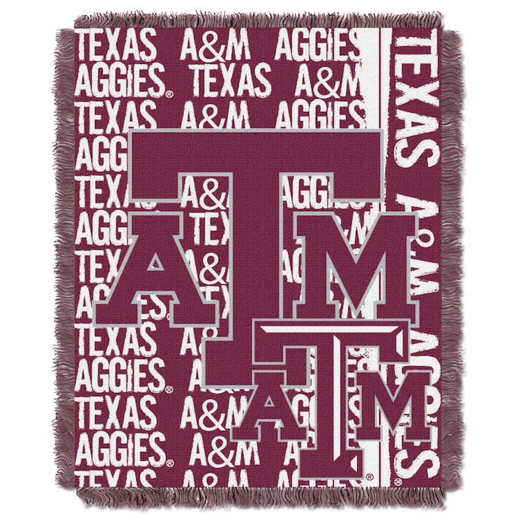 Texas A&M Aggies Double Play Tapestry Blanket 48 x 60