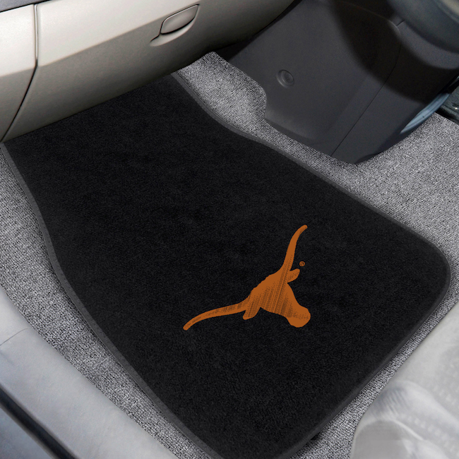 Texas Longhorns Car Floor Mats 17 x 26 Embroidered Pair