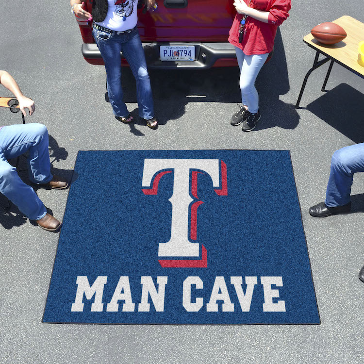 Texas Rangers MAN CAVE TAILGATER 60 x 72 Rug