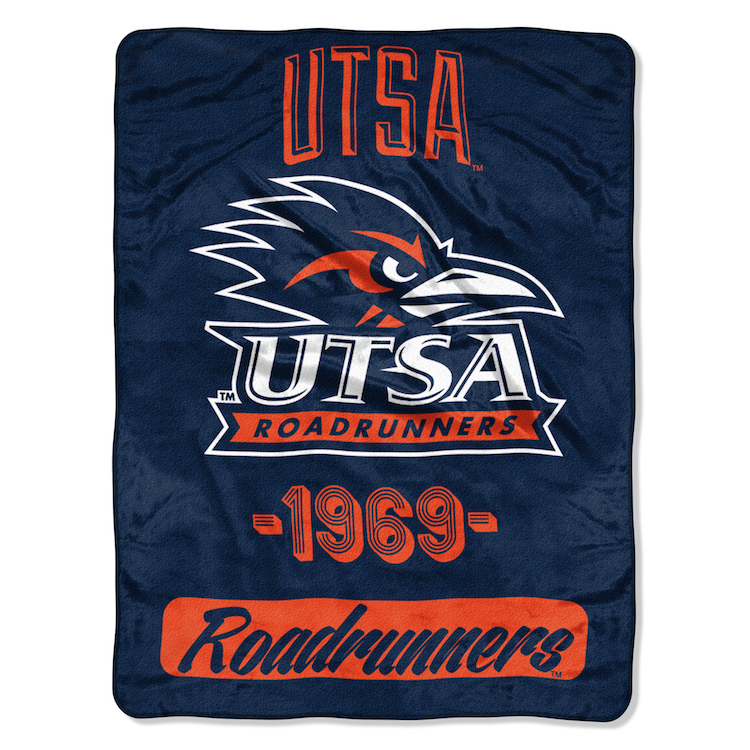 Texas San Antonio Road Runners Micro Raschel 50 x 60 Team Blanket