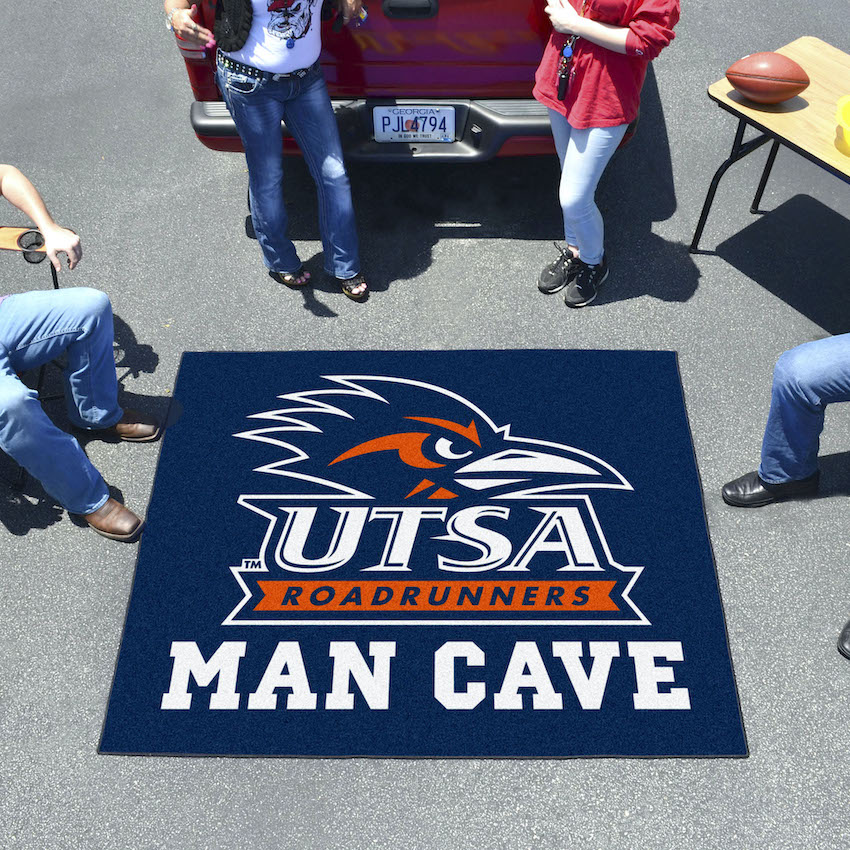 Texas San Antonio Road Runners MAN CAVE TAILGATER 60 x 72 Rug